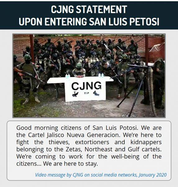 CJNG Statement Upon Entering San Luis Petosi